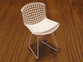 "Knoll Bertoia Side Chair 3.9"" tall in White Strong & Flexible"