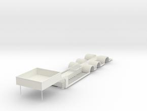 000439 Baumaschinentransporter 1:50 passend zu WSI in White Natural Versatile Plastic: 1:50
