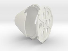 BF-109 spinner early 102mm diameter in White Natural Versatile Plastic