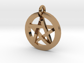 Pentacle Charm in Polished Brass