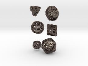 Static Gear Die Bundle in Polished Bronzed Silver Steel