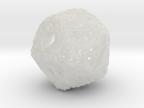 Static Gear (D20) in Smooth Fine Detail Plastic