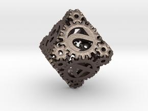 Static Gear (D8) in Polished Bronzed Silver Steel