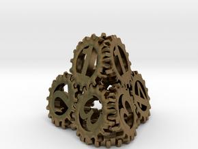 Static Gear Die (D4) in Natural Bronze