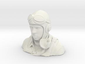 Warbird Pilot Figure 1/4 in White Natural Versatile Plastic