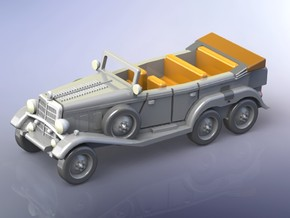 German Mercedes G4 Staff Car 1/100 in Smooth Fine Detail Plastic