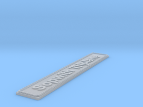 Nameplate Sopwith Triplane in Smoothest Fine Detail Plastic