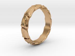 Exoskeleton Armor Ring in Polished Bronze: 8 / 56.75