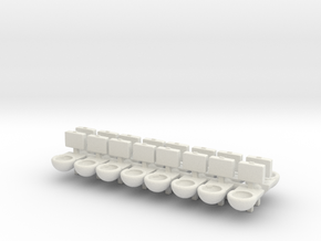 Prison Toilet (x16) 1/160 in White Natural Versatile Plastic