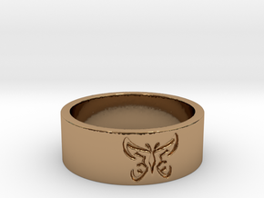 25 Butterfly v4 Ring Size 7 in Polished Brass