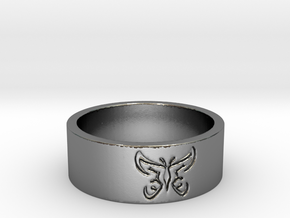 25 Butterfly v4 Ring Size 7 in Polished Silver