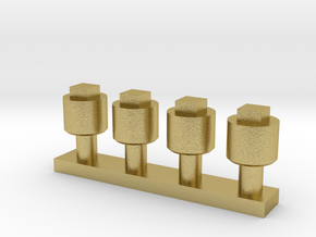 Dummy Pipe plug  in Natural Brass