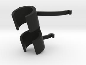 Acoustic Bass String Mic Mount 25mm  in Black Natural Versatile Plastic