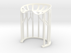 2028 Stool [1:6 scale] in White Processed Versatile Plastic