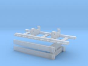 Shovel L150 en Caterpillar 966 palletvorken in Smooth Fine Detail Plastic