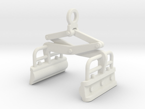 Custom clamp 12 X 12 MM in White Natural Versatile Plastic
