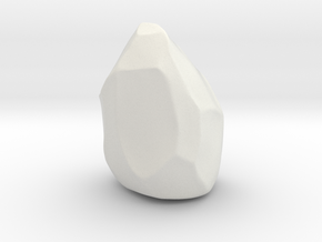 Miniature rock in White Natural Versatile Plastic