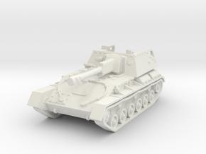 SU-76 M (early) 1/76 in White Natural Versatile Plastic