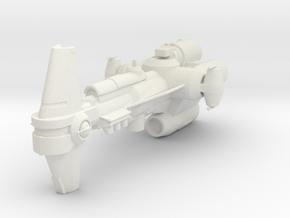 Micromachine Star Wars Sphyrna class in White Natural Versatile Plastic