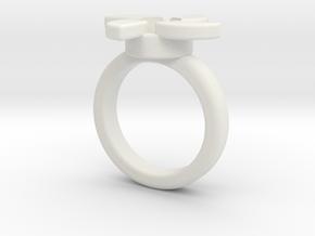 PinWheel Ball Marker  in White Natural Versatile Plastic: 6.75 / 53.375