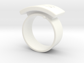 Desmudge Ring in White Processed Versatile Plastic
