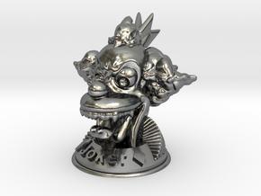 Joker  in Polished Silver
