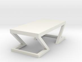 Modern Miniature 1:48 Table in White Natural Versatile Plastic: 1:48 - O