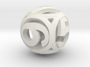 Round Die (Fixed) in White Strong & Flexible