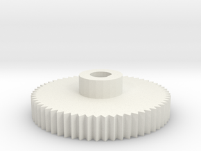 6mm shaft gear for encoder in White Natural Versatile Plastic