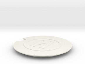 Helipad 1/48 in White Natural Versatile Plastic