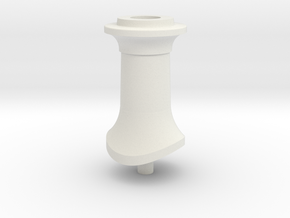 LBSCR E4 Capped Tall Chimney in White Natural Versatile Plastic