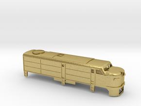 Z Scale Alco FA-1 Shell in Natural Brass