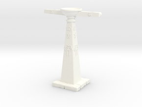 Orb Stand in White Processed Versatile Plastic