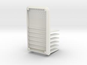 POS Enamel pins in White Natural Versatile Plastic