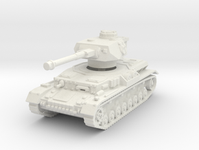 Panzer IV G 1/100 in White Natural Versatile Plastic
