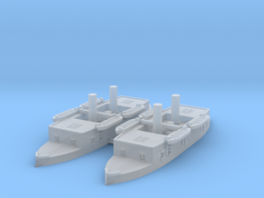 1/1250 Cabral Class Ironclad x2 in Smooth Fine Detail Plastic
