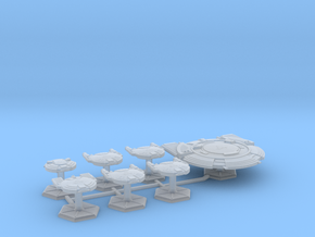 7000 Scale Andromedan Fleet Dominator Collection in Smooth Fine Detail Plastic