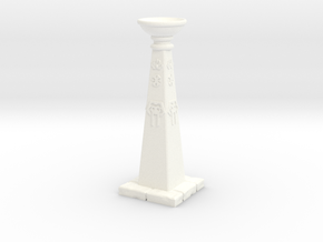 Orb Stand 2 in White Processed Versatile Plastic