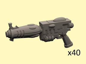 28mm Space Elf blaster pistols in Smoothest Fine Detail Plastic