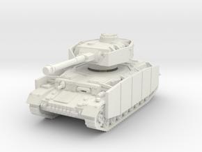 Panzer IV G (Schurzen) 1/76 in White Natural Versatile Plastic