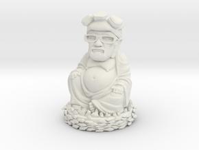 HeisenBuddha aka Heisenberg Buddha plastic in White Natural Versatile Plastic