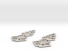 Ensara Earrings in Rhodium Plated Brass
