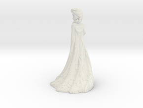 Elsa frozen princess in White Natural Versatile Plastic