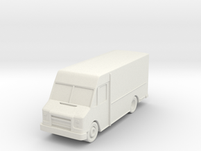 """Delivery Truck At 1""""=8' Scale in White Natural Versatile Plastic"""