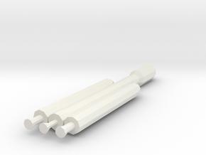 1/1000 Scale SpaceX Falcon 9 Heavy in White Natural Versatile Plastic