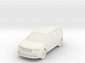 "Minivan at 1""=8' Scale in White Natural Versatile Plastic"