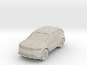 "SUV at 1""=8' Scale in Natural Sandstone"