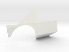 SCX24 Miller Motorsports Right Body Panel in White Natural Versatile Plastic