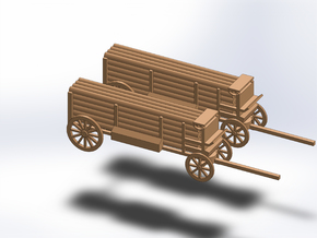 N TWO TELEGRAPH POLE WAGON in Smooth Fine Detail Plastic