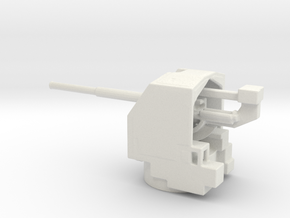 1/200 QF 4.5-inch anti-aircraft gun in White Natural Versatile Plastic